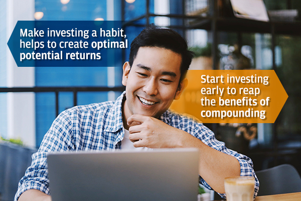 Staying invested regularly to reap the benefit of long-term compounding investment
